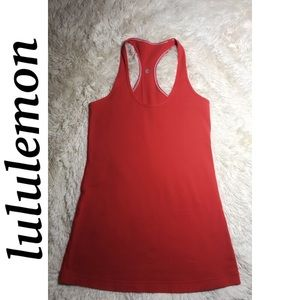 Red/Orange Lululemon Racerback Workout Tank Top